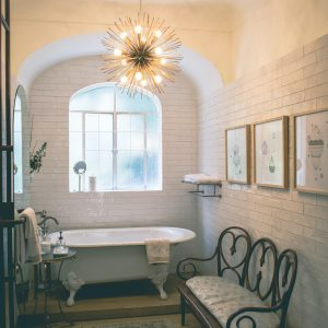 Bathroom with Small Bathtub