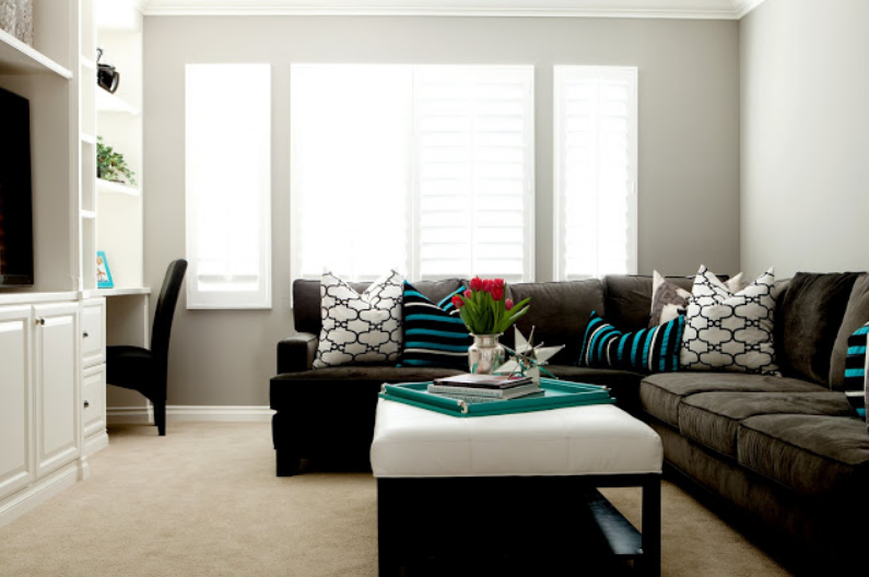 15 Black and Teal Living Room Ideas - Your House Needs This